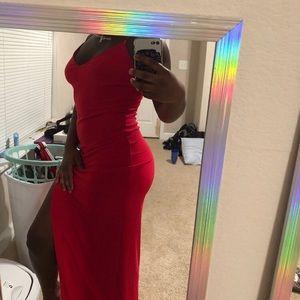 Bright Red Fashion Nova Dress